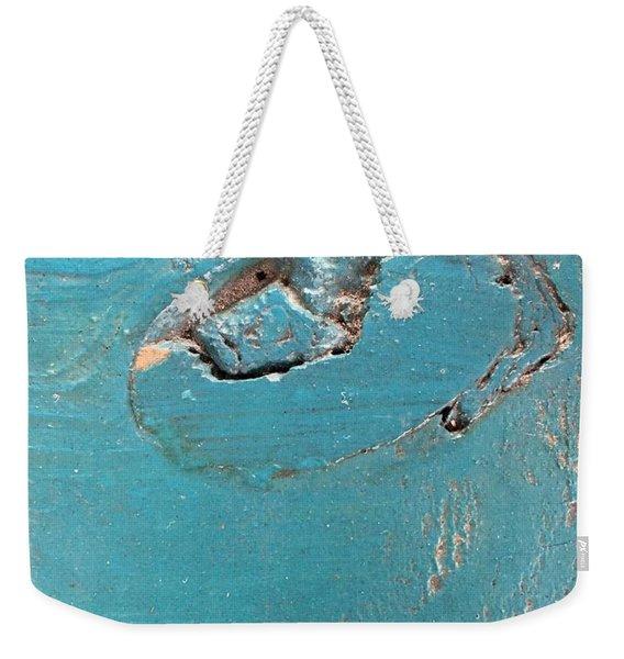 Azure Wood Weekender Tote Bag