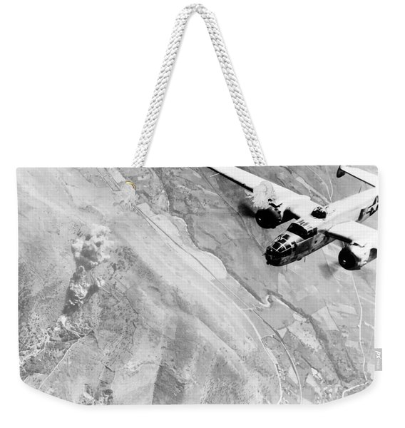 B-25 Bomber Over Germany Weekender Tote Bag