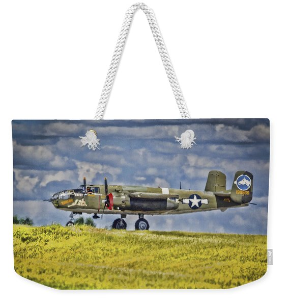 B-25 Landing Akron/canton Ohio Weekender Tote Bag