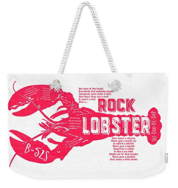 B-52s Rock Lobster Lyric Poster Weekender Tote Bag
