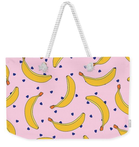 B-a-n-a-n-a-s Weekender Tote Bag