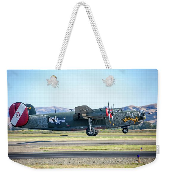 B24 Liberator Takeoff At Livermore Weekender Tote Bag