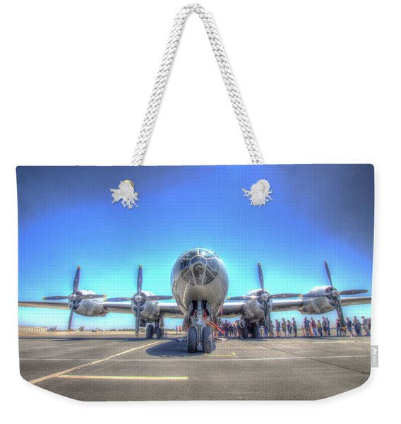 B29 Superfortress At Modesto Weekender Tote Bag