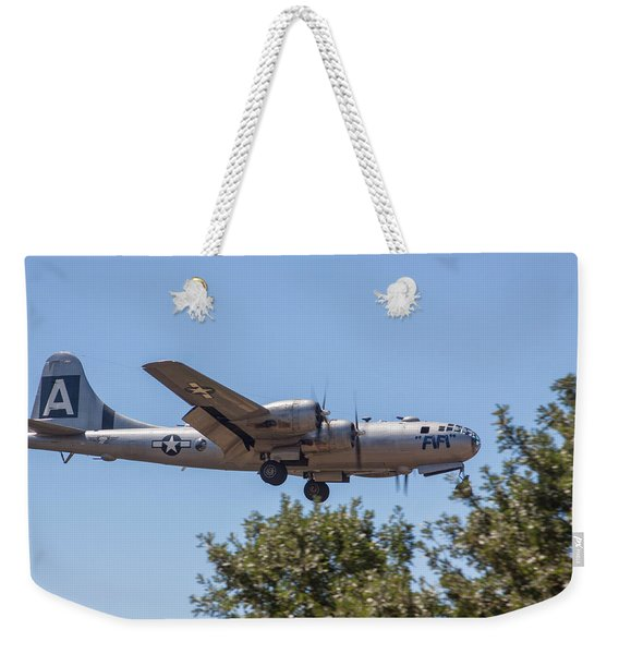B29 Superfortress Short Final At Modesto Weekender Tote Bag