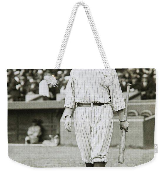 Babe Ruth Going To Bat Weekender Tote Bag