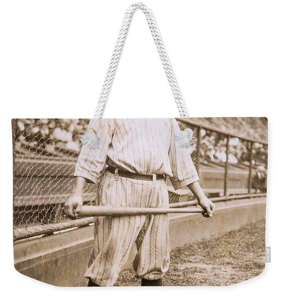 Babe Ruth On Deck Weekender Tote Bag