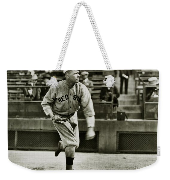 Babe Ruth Pitching Weekender Tote Bag