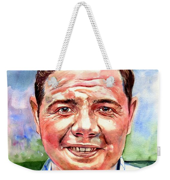 Babe Ruth Portrait Weekender Tote Bag