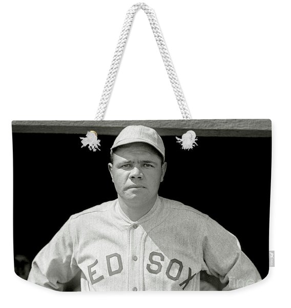 Babe Ruth Red Sox Weekender Tote Bag