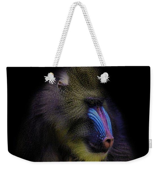 Baboon Portrait Weekender Tote Bag