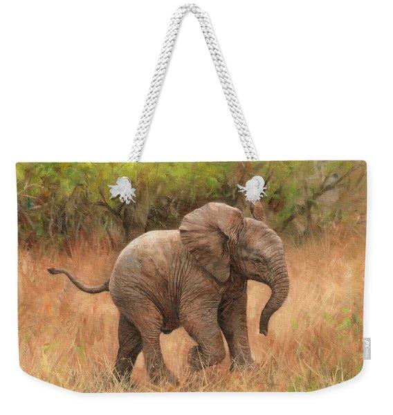 Baby African Elelphant Weekender Tote Bag