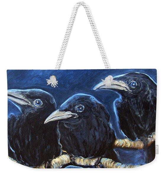 Baby Crows Weekender Tote Bag