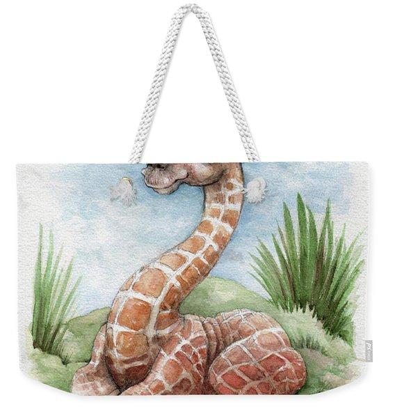 Baby Giraffe Weekender Tote Bag