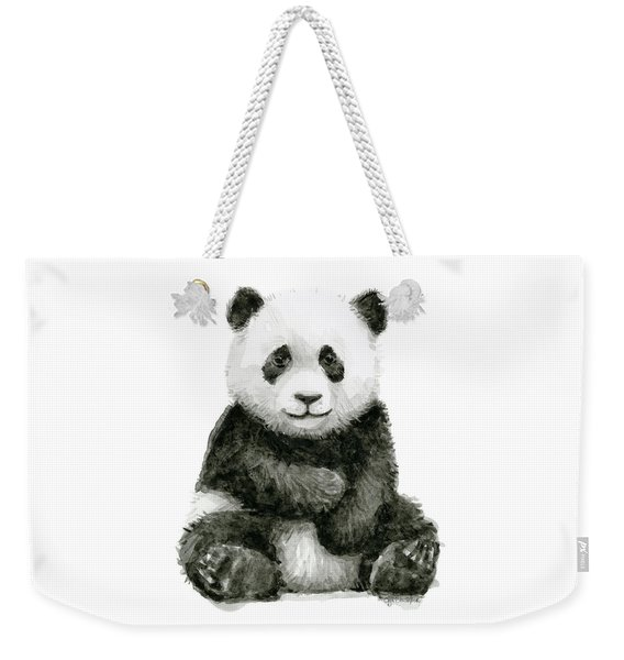 Baby Panda Watercolor Weekender Tote Bag