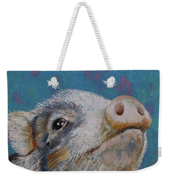 Baby Pig Weekender Tote Bag