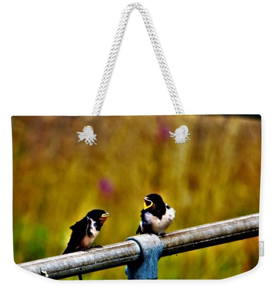 Baby Swallows Weekender Tote Bag