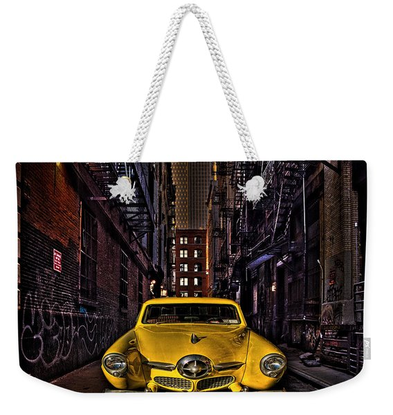 Back Alley Taxi Cab Weekender Tote Bag