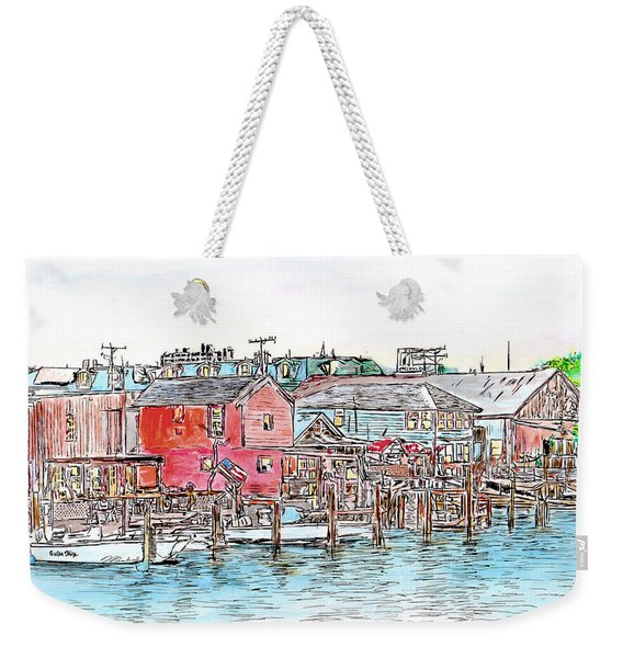 Back Bay, Atlantic City, Nj Weekender Tote Bag