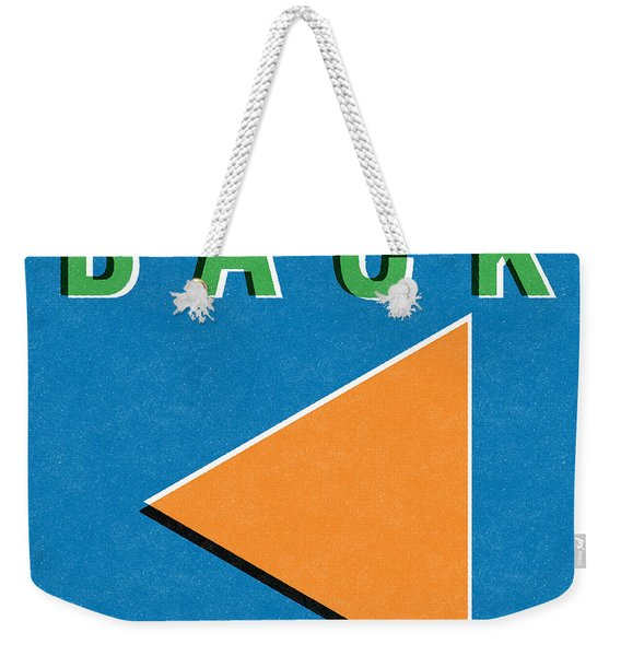 Back Button Weekender Tote Bag