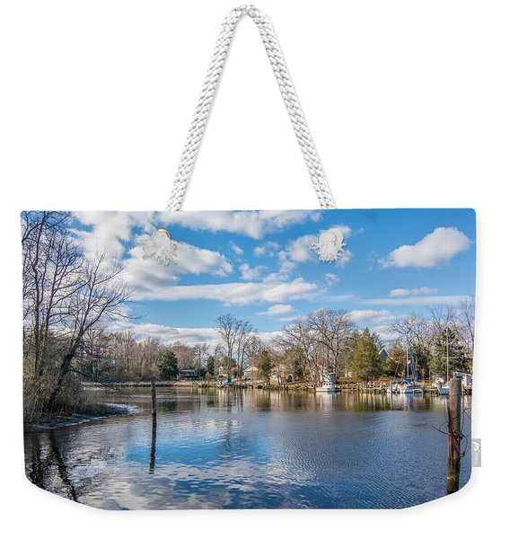 Back Creek Annapolis Md Weekender Tote Bag