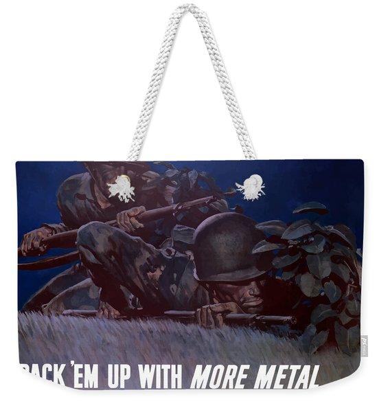 Back 'em Up -- Ww2 Weekender Tote Bag