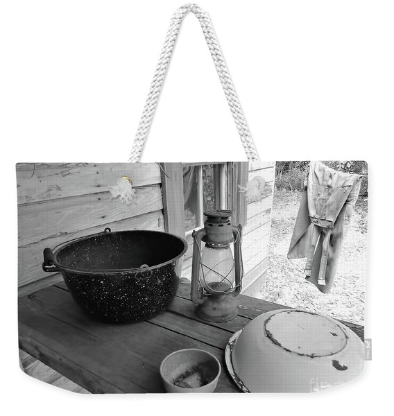 Back In Time B - W Weekender Tote Bag