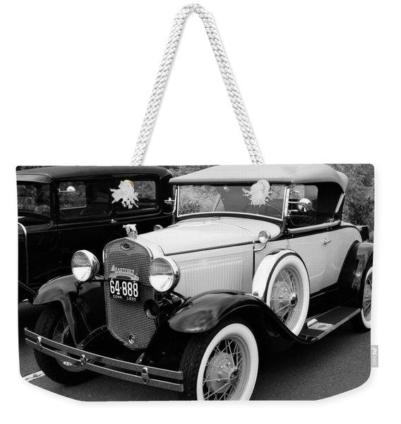 Back In Time Weekender Tote Bag