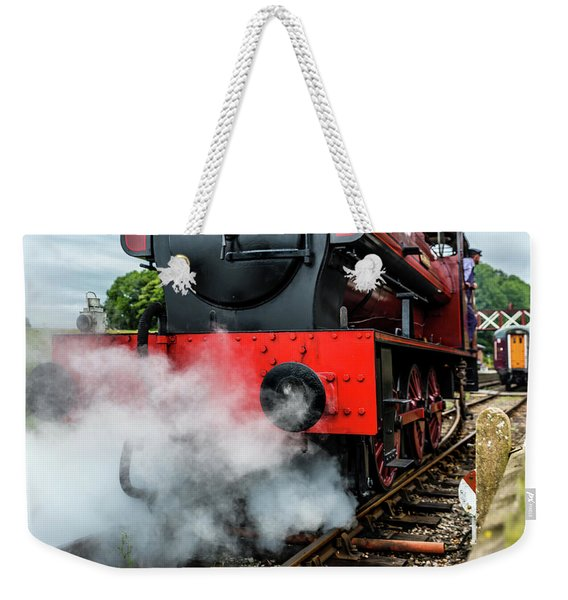 Weekender Tote Bag featuring the photograph Back It Up by Nick Bywater