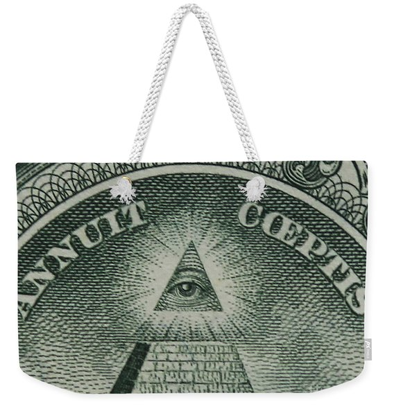 Back Of 1 Dollar Bill Weekender Tote Bag