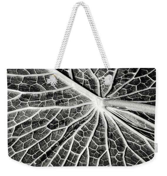 Back Of A Water Lily Pad Weekender Tote Bag
