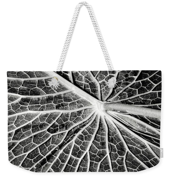 Back Of A Water Lily Pad Weekender Tote Bag
