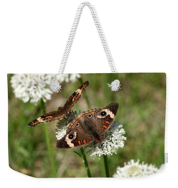 Back To Back Butterflies Weekender Tote Bag