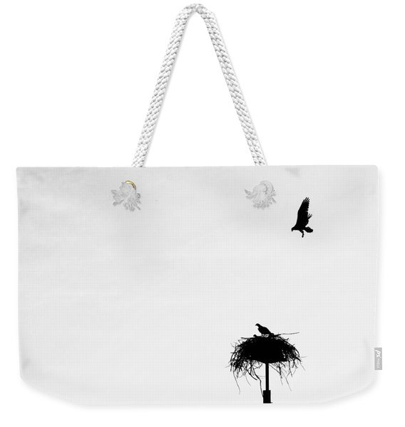 Back To The Nest Weekender Tote Bag