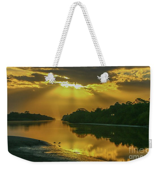 Weekender Tote Bag featuring the photograph Back Up Reflection by Tom Claud