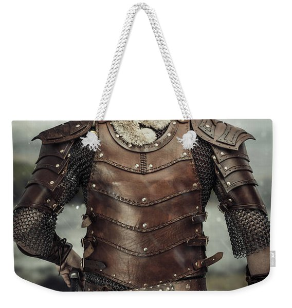 Back View Of Viking Costume Weekender Tote Bag
