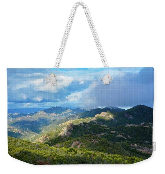 Backbone Trail Santa Monica Mountains Weekender Tote Bag