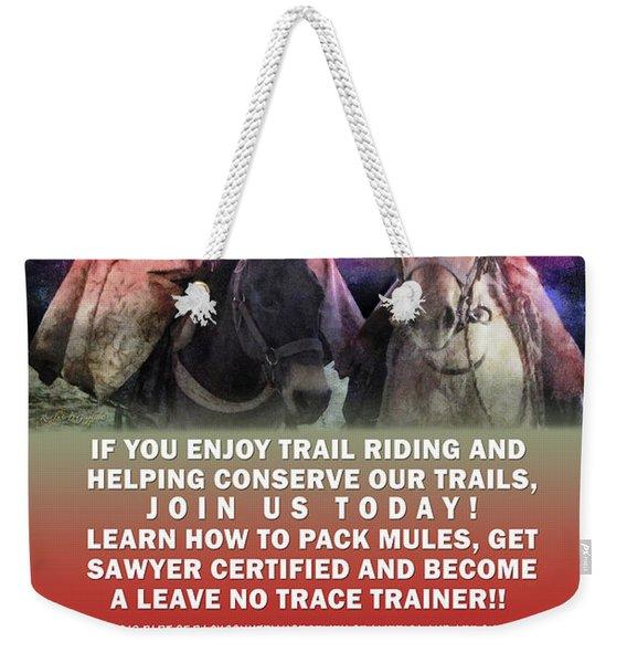 Backcountry Horsemen Join Us Poster II Weekender Tote Bag