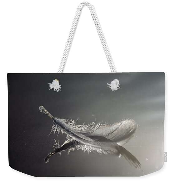 Backlit Feather Weekender Tote Bag