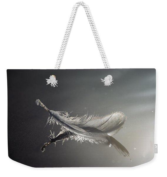 Backlit Feather Weekender Tote Bag