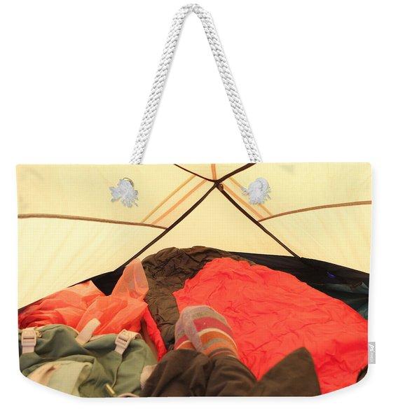 Backpacking Moments Weekender Tote Bag