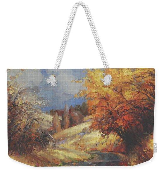 Backroads Weekender Tote Bag