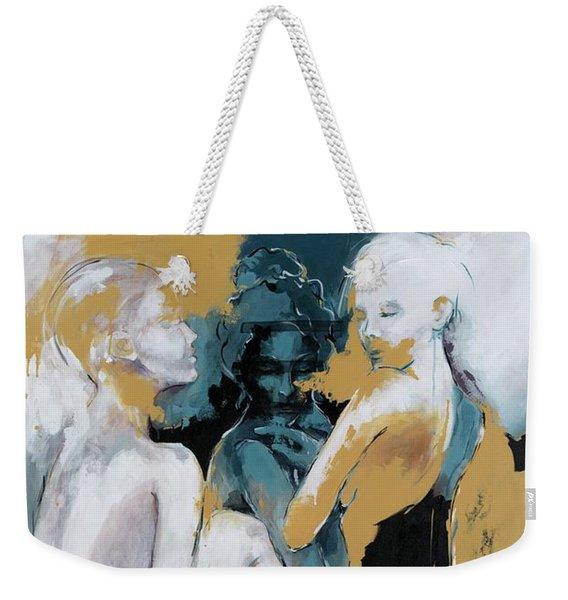 Backstage - Beauties Sharing Secrets Weekender Tote Bag