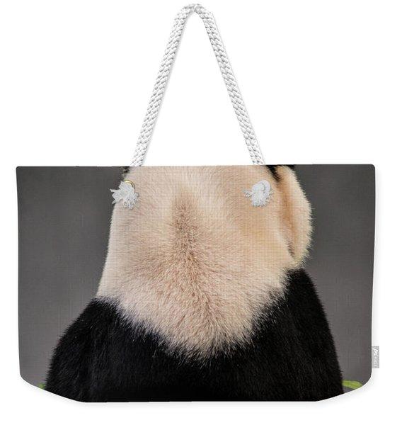 Backward Panda Weekender Tote Bag