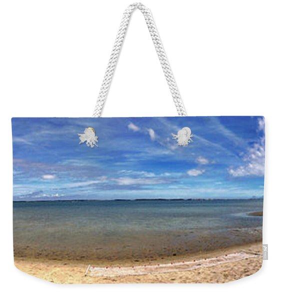 Backwater Bay Pano Weekender Tote Bag