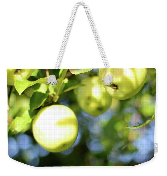 Backyard Apples Weekender Tote Bag
