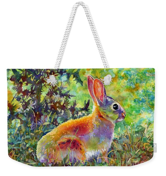 Backyard Bunny Weekender Tote Bag