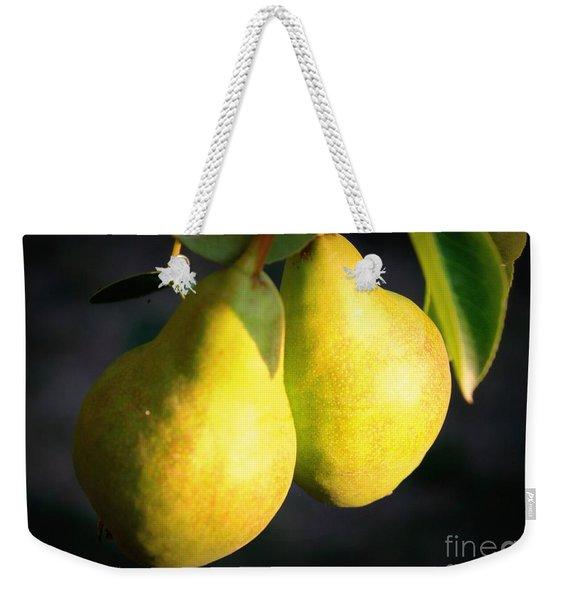 Backyard Garden Series - Two Pears Weekender Tote Bag