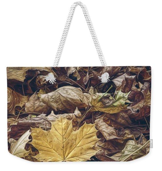 Backyard Leaves Weekender Tote Bag
