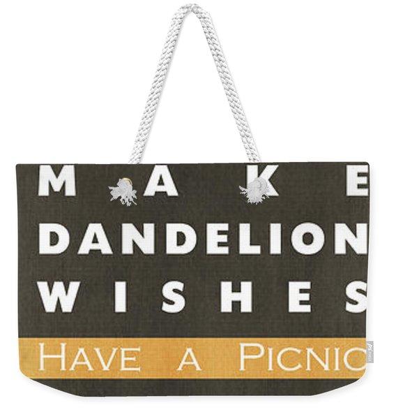 Backyard Rules Weekender Tote Bag