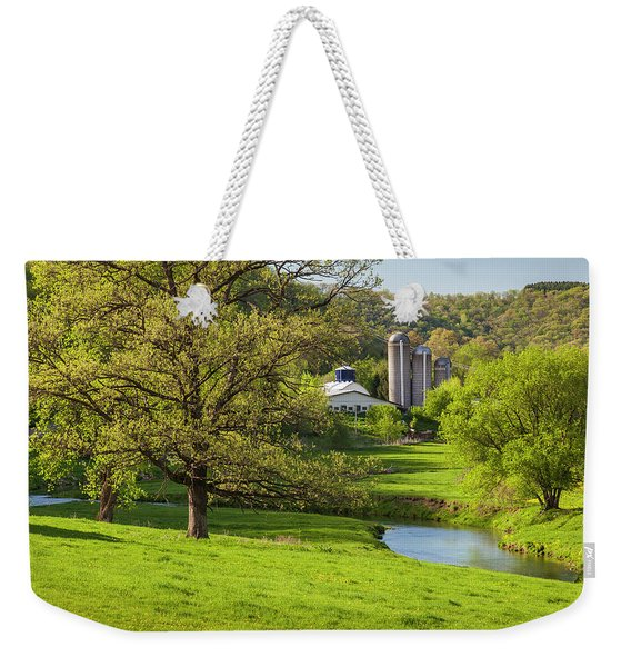Bad Axe River Weekender Tote Bag